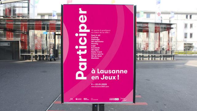 Lausanne en Jeux - Affichage