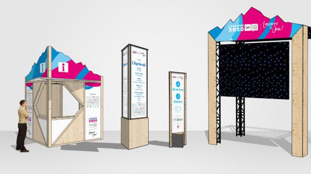 Lausanne en Jeux - Signalétique urbaine